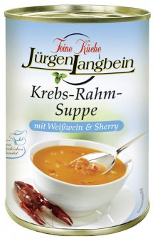 j rgen langbein krebs rahm suppe fertiggericht 400ml. Black Bedroom Furniture Sets. Home Design Ideas
