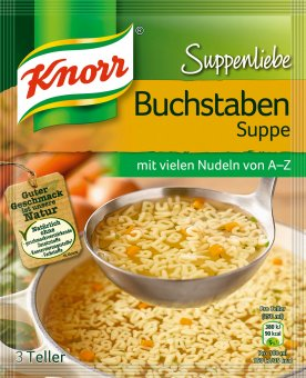 knorr suppenliebe buchstabensuppe nudelsuppe 82g. Black Bedroom Furniture Sets. Home Design Ideas