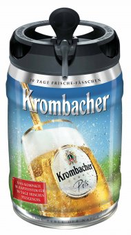 krombacher frische fass bier fass 4 8 vol 5 liter. Black Bedroom Furniture Sets. Home Design Ideas