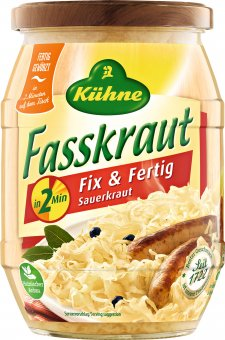 k hne fasskraut fix und fertig sauerkraut 400g. Black Bedroom Furniture Sets. Home Design Ideas