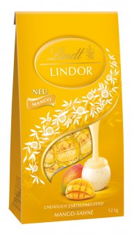 lindt lindor kugeln mango schokolade 137g online kaufen bei lieferello. Black Bedroom Furniture Sets. Home Design Ideas