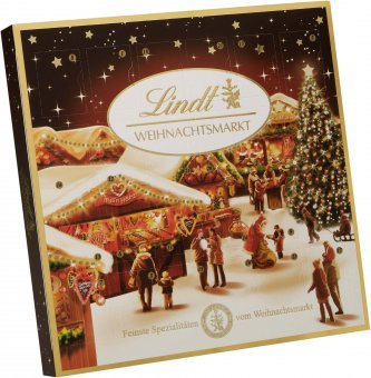 lindt weihnachtsmarkt adventskalender schokolade 115g. Black Bedroom Furniture Sets. Home Design Ideas