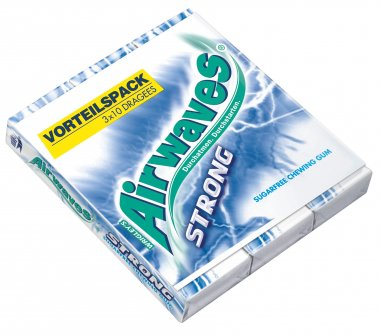 Wrigley S Airwaves Strong Zuckerfreie Kaugummis 3x10st