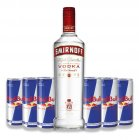 "Probierset ""Redbull & Smirnoff Red Label Vodka"" 37,5% Vol 7-teilig/1St"