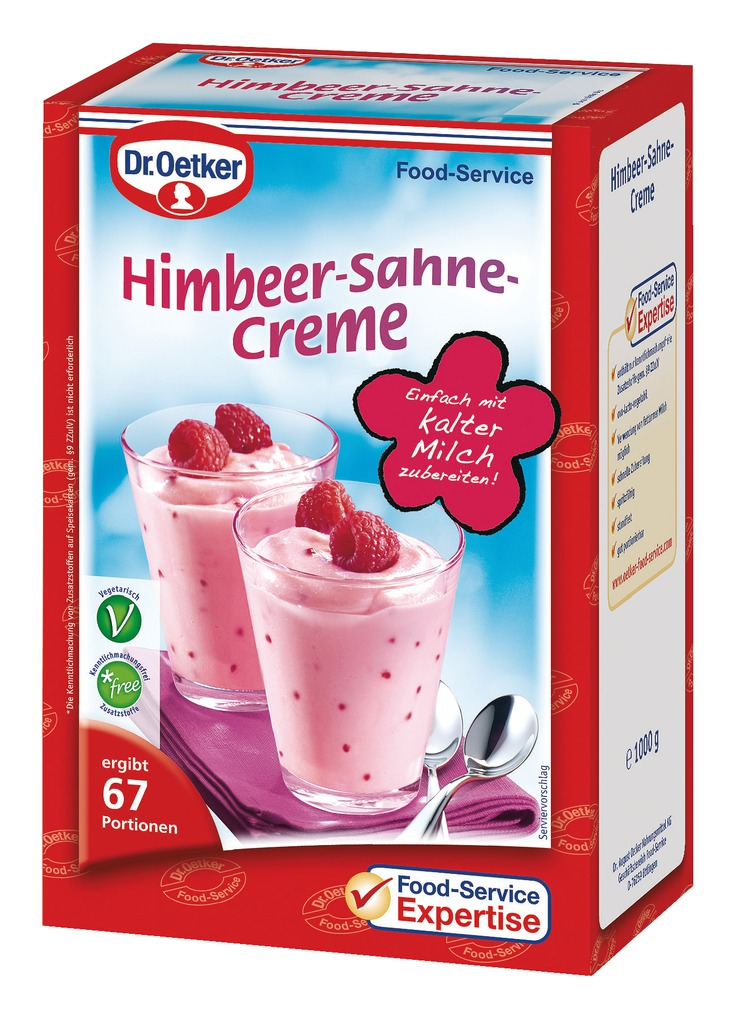 dr oetker himbeer sahne creme 1kg online kaufen bei lieferello. Black Bedroom Furniture Sets. Home Design Ideas