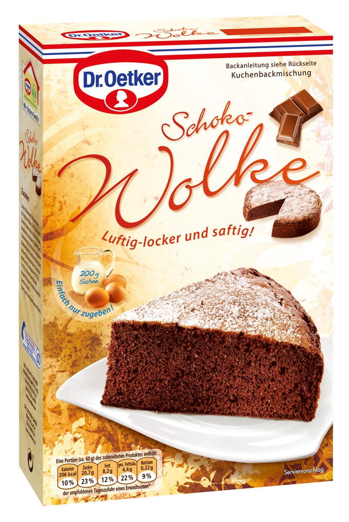 dr oetker kuchen schoko wolke 455g online kaufen bei lieferello. Black Bedroom Furniture Sets. Home Design Ideas