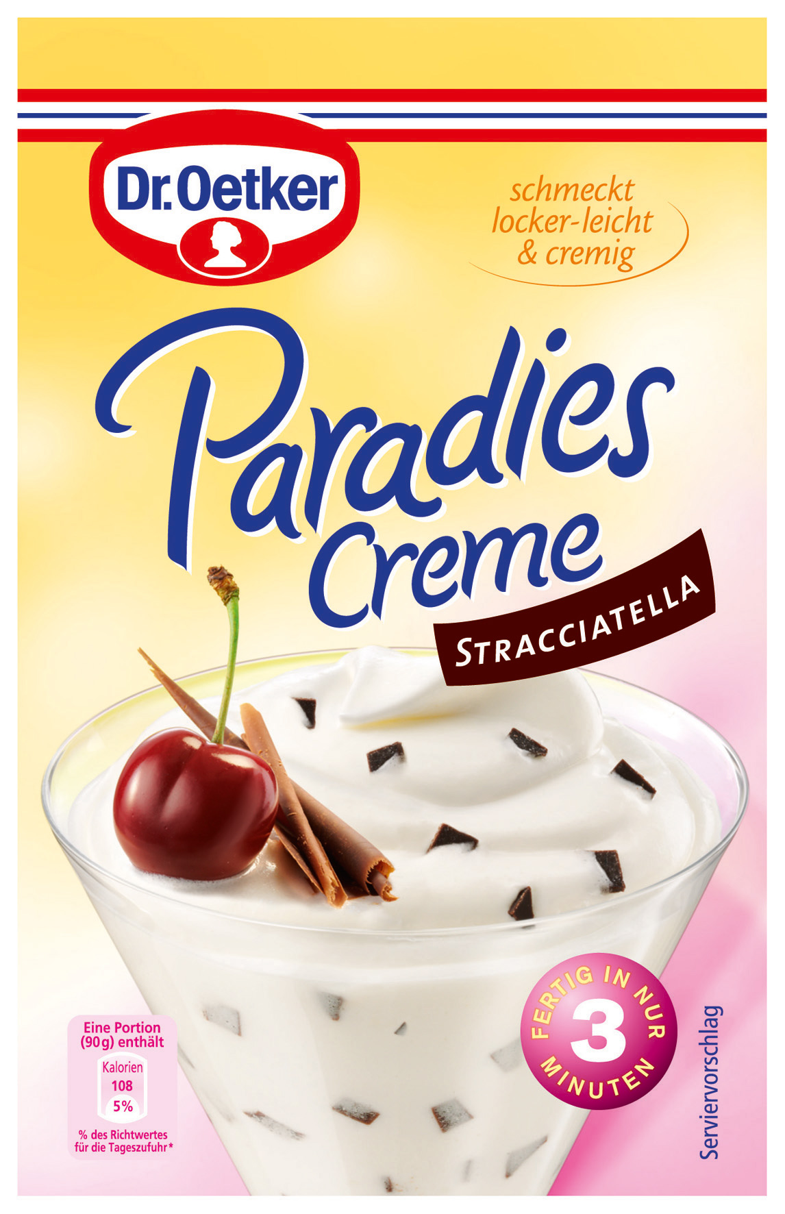 dr oetker paradiescreme stracciatella dessert 66g online kaufen bei lieferello. Black Bedroom Furniture Sets. Home Design Ideas