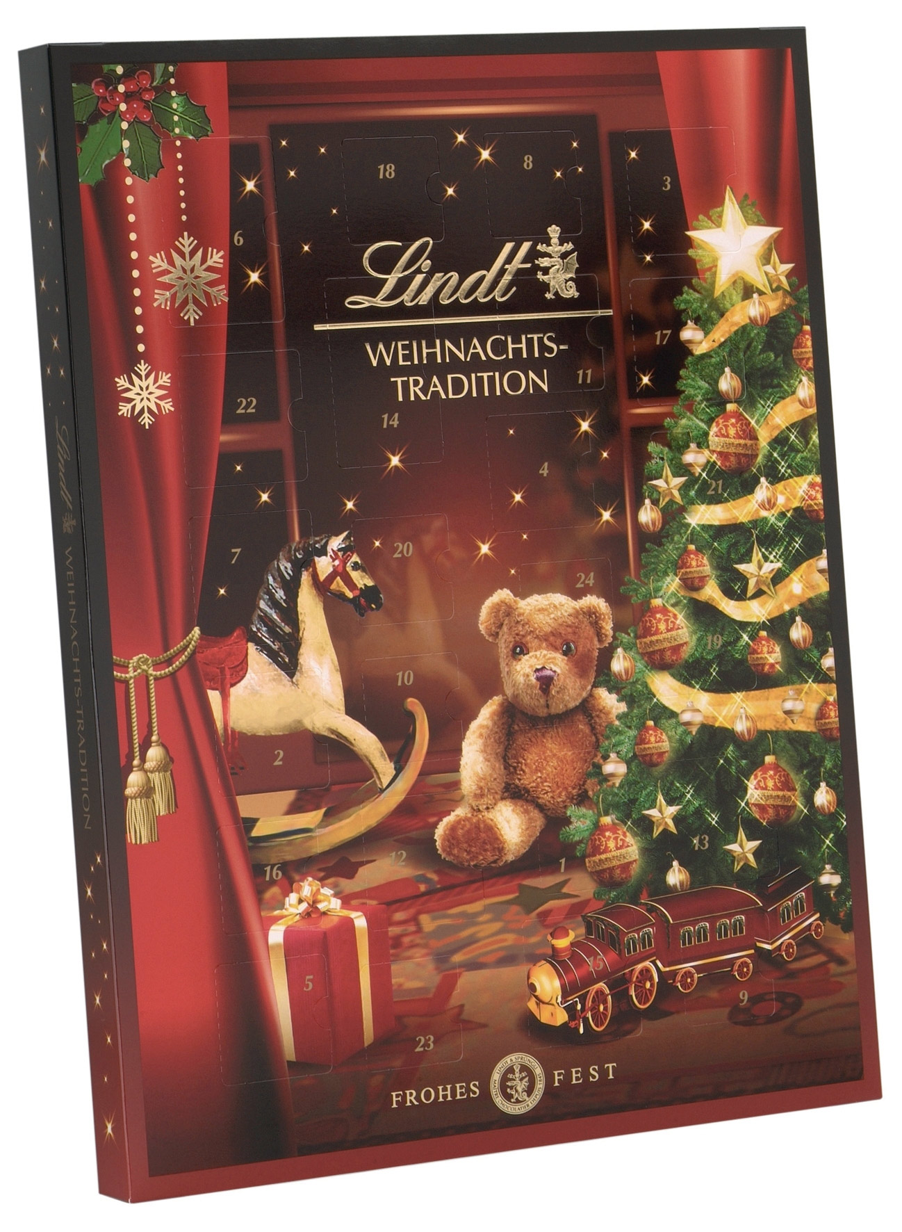 lindt weihnachtstradition adventskalender pralinen 253g online kaufen bei lieferello. Black Bedroom Furniture Sets. Home Design Ideas