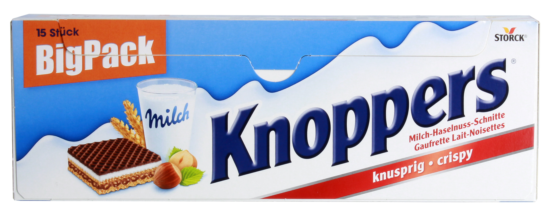 knoppers big pack milch haselnuss schnitte 15st 375g. Black Bedroom Furniture Sets. Home Design Ideas